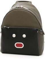 Fendi Bicolor Roman Leather Backpack