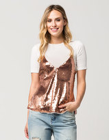 Free People Sassy In Sequins Womens Cami