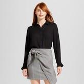 Who What Wear Women's Ruffle Cuff Blouse