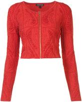 Sophie Theallet cropped zip jacket - women - Silk/Polyamide/Polyester - XS