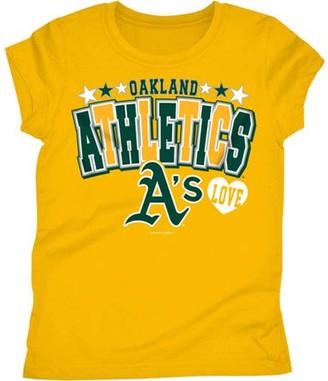 Mlb MLB Oakland Athletics Girls Short Sleeve Team Color Graphic Tee