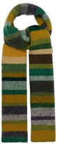 The Elder Statesman Striped Cashmere Scarf - Womens - Multi