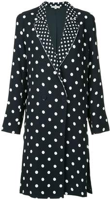 LAYEUR polka dot longline jacket