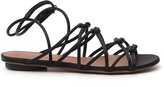 L'Autre Chose Knotted Multi Strap Flat Sandals