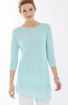 J. Jill Pure Jill Mixed-Stitch Sweater Tunic