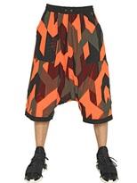 Y-3 Reversible Geometric Camouflage Shorts
