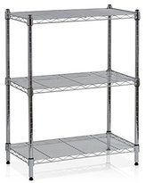 Furinno WS15001 Wayar Heavy Duty Wire Shelving System, 3-Tier, Chrome