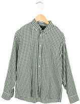 Oscar de la Renta Gingham Button-Up Shirt