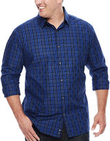 Claiborne Long-Sleeve Woven Cotton Shirt - Big & Tall