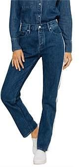 Calvin Klein High Rise Straight Taped Jean
