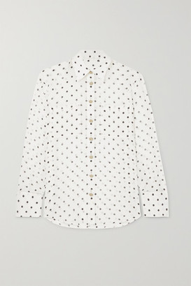 Balmain Polka-dot Silk-georgette Blouse - White