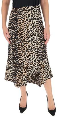 Ganni Leopard Print Midi Skirt