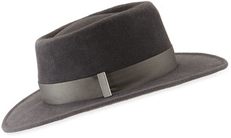 Gigi Burris Millinery Noelle Small Brim Rabbit Felt Fedora Hat