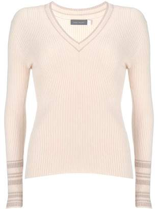 Mint Velvet Pale Pink V-Neck Knit Jumper