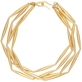 Tohum Design Helia 24kt gold-plated necklace