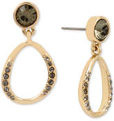 Kenneth Cole New York Gold-Tone Jet Crystal Drop Earrings