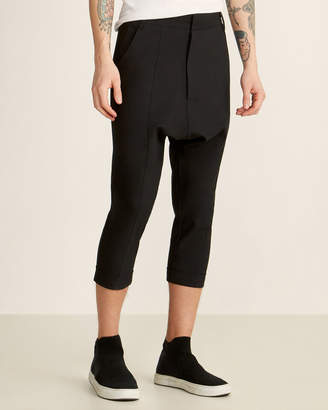 Army Of Me Black Cropped Low Crotch Twisted Pants