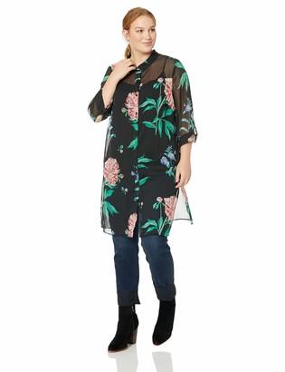 Junarose Women's Plus Size Paliva Sleeve Long Shirt