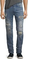 True Religion Rocco Distressed Skinny Biker Jeans