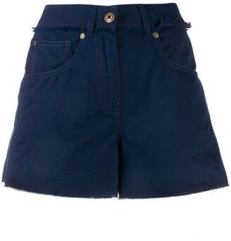 Mr & Mrs Italy Mid Rise Denim Shorts