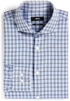 BOSS 'Mark US' Sharp Fit Plaid Dress Shirt