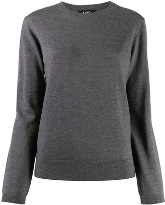 A.P.C. Long-Sleeved Ribbed Knit Jumper