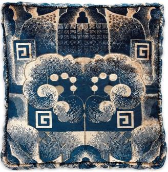 Gucci velvet square G cloud jacquard cushion