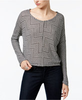 Bar III Printed Knit Top, Only at Macy's