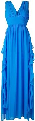 MSGM V-neck frilled gown