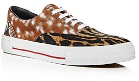 Burberry Men's Skate Animal Print Low-Top Sneakers
