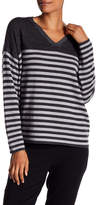 Eileen Fisher V-Neck Striped Wool Pullover
