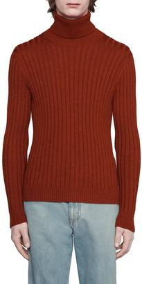 Gucci Rib Alpaca & Wool Turtleneck Sweater