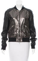 Pierre Balmain Leather Bomber Jacket