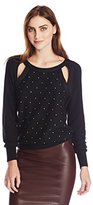 Tracy Reese Women's Metallic Cut Out Shoulder Sweater