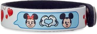Disney Mouse Emoji Leather Bracelet Personalizable