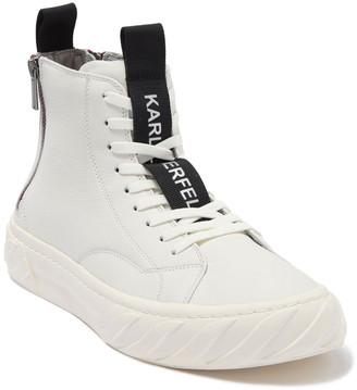 Karl Lagerfeld Paris Double Back Zip High Top Sneaker