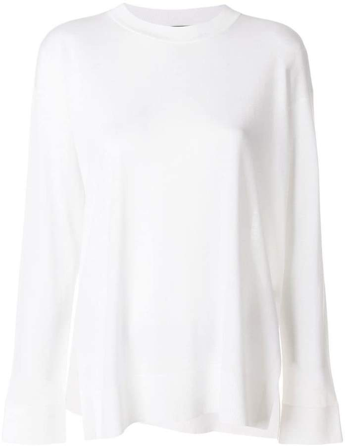 Theory long sleeved knitted top