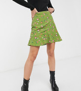 Fashion Union Petite flippy skirt in ditsy floral