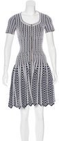Alaia Knit Fit & Flare Dress