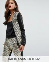 Maya Tall Premium Embellished Front Blazer