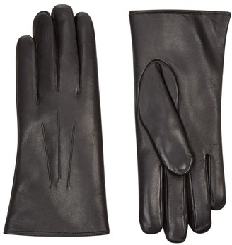 Harrods Rabbit Fur Lined Leather Gloves