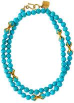Ashley Pittman Roho Turquoise Bead Necklace