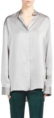 Haider Ackermann Silk Button-Front Blouse