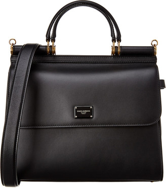 Dolce & Gabbana Sicily 58 Large Leather Satchel