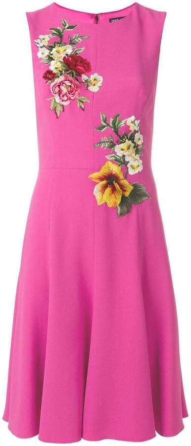 Dolce & Gabbana floral embroidered midi dress