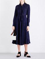Diane von Furstenberg Collared devoré shirt dress