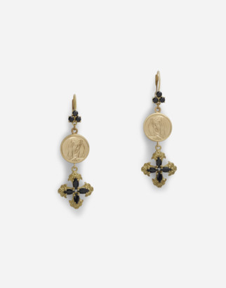 Dolce & Gabbana Drop Earrings With Sapphires