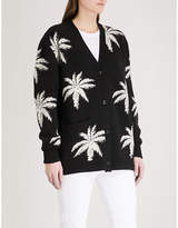 Amiri Palm cashmere and wool-blend cardigan