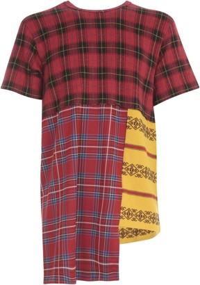 Comme des Garçons Homme Plus Cotton Polyester Jacquard Wool Checked T-shirt