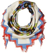 Tory Burch Avalon Fringed Silk Square Scarves